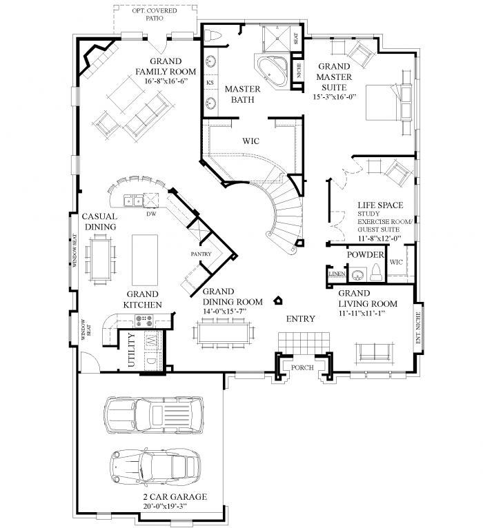 Grand homes print grand lantana mills for Grand homes floor plans