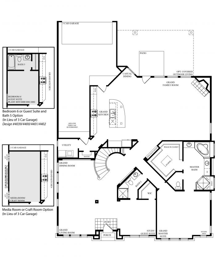 Hallmark design homes floor plans for Grand design floor plans