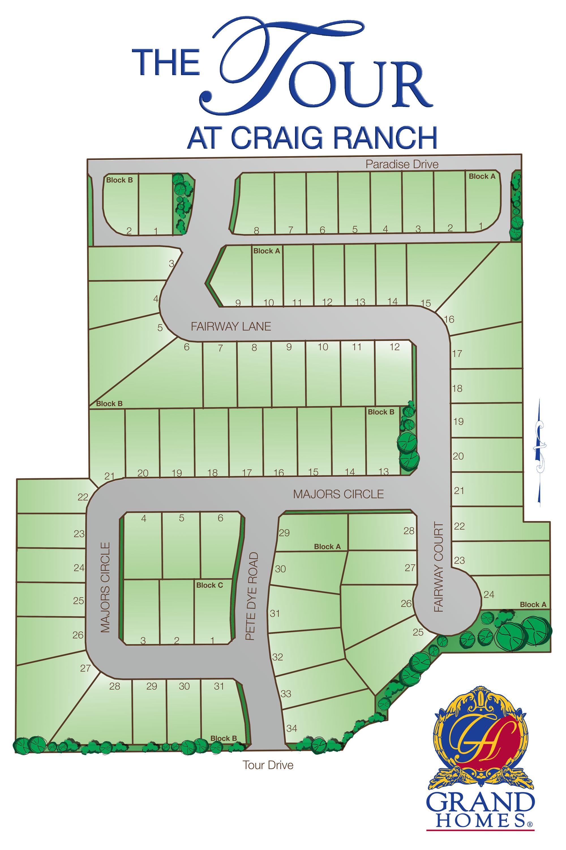 craig ranch soccer field map